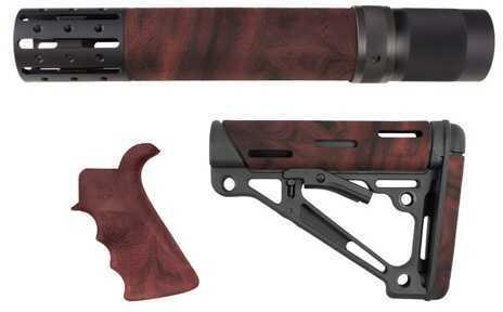 Hogue AR15 Kit BFG Grip Rifle Length Forend Acc OMC Red Lava 15478
