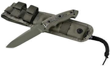 Hogue EXF01 5-1/2 Inch Drop Point Blade Green Kote Sheath, G10 Gmascus Green Md: 35171