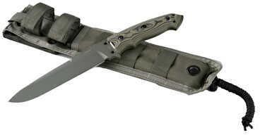 "Hogue EXF01 7"" Drop Point Blade Green Kote Sheath G10 Gmasus Green Md: 35151"