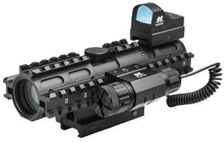 NcStar 3RS Tri-Rail Combo 2-7x32 Mil Dot/ Micro Dot/ Red Laser Md: KAR3RSM2732G