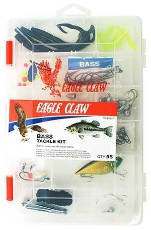 Eagle Claw Fishing Tackle Bass Tackle Kit Carton, 2 Kits Md: TK-BASS1-PACKAGE