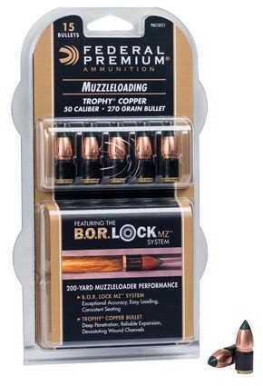 Federal Cartridge Fed 50Cal 270Gr Trophy Copper MZ BOR Lock SYSTE