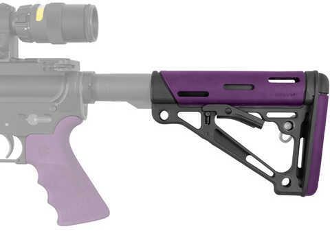 Hogue AR-15/M-16 OMC Buttstock-Purple Rubber Md: 15650