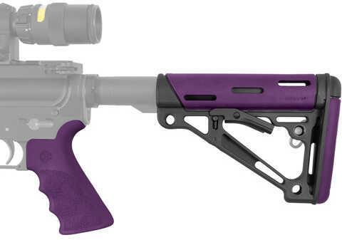 Hogue AR-15/M-16 Kit -Mil-Spec- Purple Rubber Md: 15656