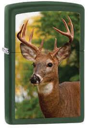 Zippo Windproof Lighter - Deer - Green Matte Md: 28471
