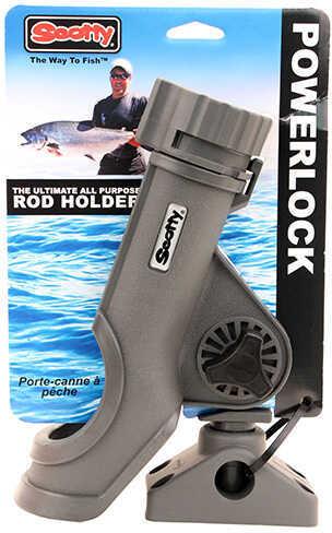 Scotty Powerlock Rod Holder with 0241 Side Deck Mount, Gray Md: 0230-GR