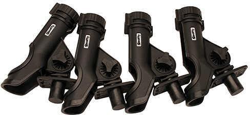 Scotty Powerlock Rod Holder with 0244 Flush Deck Mounts, Black, 4 Pack Md: 0231-BK-QUAD