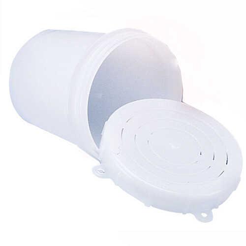 Scotty Crab Diner Bait Jar with Lid 1/2 Liter, White Md: 0650