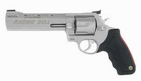 "Taurus M444 Raging Bull 44 Magnum 6.5"" Barrel 6 Round Adjustable Sight Stainless Steel Revolver   2444069"