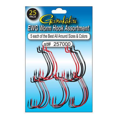 Gamakatsu / Spro EWG Worm Assortment Hooks, 2/0-4/0 Md: 257000