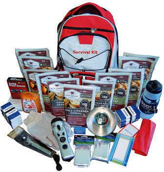 Wise Foods 2 Week Essential Survival Backpack Red Md: 01-601