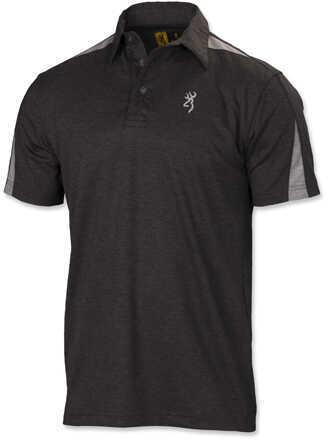Browning Highline Polo Shirt, Dark Heather Medium Md: 3010706902