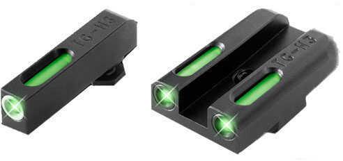 Truglo TFX Novak 260/500 1911 Pistol Green 3 Dot Tritium FiberOptic TG13NV1A