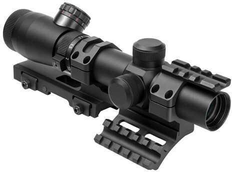 NcStar Shooter I Series 1.1-4X25 Black Scope Mil-Dot, SPR Mount Md: SEEFM11425G/SPR