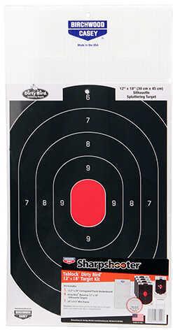 Birchwood Casey Sharpshooter Tab-Lock Dirty Bird Silhouette Target Kit Md: 38104