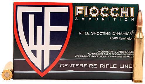 Fiocchi Ammo 25-06 Remington 117 Grain Interlock BT, 20 Rounds Per Box