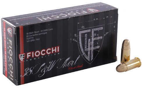 Fiocchi Ammo Fiocchi 38 S&W Short 145 Grain Lead Round Nose Ammunition, 50 Rounds Per Box Md: 38SWSHL
