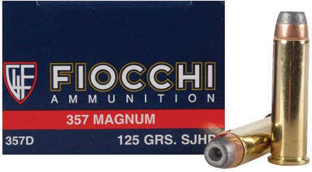Fiocchi Ammo 357Mag 125 Grains JHP 50 Rounds Ammunition 357D