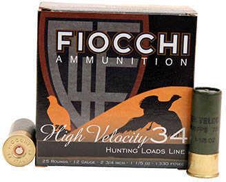 "Fiocchi Ammo Lead 12 Gauge 2.75"" Size #7.5 Shot 1 1/5 Oz Shotshells, 25 Per Box"