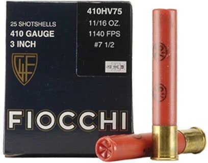 Fiocchi Ammo Fiocchi High Velocity 410 Gauge 3 Inch 11/16 Ounce #7.5 Shot Lead Shotshells, 25 Rounds Per Box