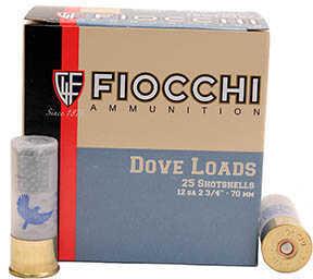 "Fiocchi Ammo Dove/Quail 2.75"" (Per 25) 12 Gauge Size 7.5, 1 1/8 oz Md: 12GTX187"