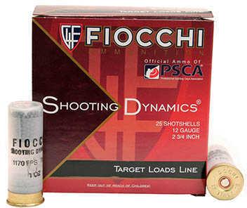 "Fiocchi Ammo Shooting Dynamics 12 Gauge 2.75"" Size #7.5 Shot, 1 oz Shotshells, 25 Per Box"