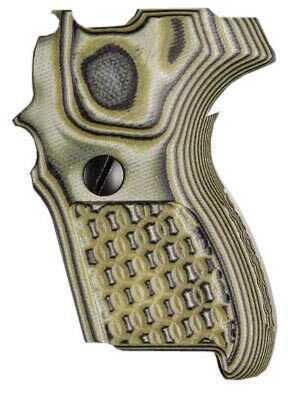 Hogue Sig P224 DA/SA Grip Chain G10 G-Mascus Green Md: 22118