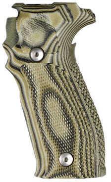 Hogue Sig P226 Grip DA/SA Allround Checkered G10 G-Mascus Green Md: 23158