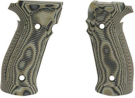 Hogue Sig P226 Grip DA/SA MaGrip Pirahna G10 G-Mascus Green Md: 23138