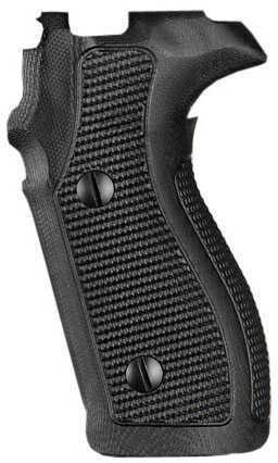 Hogue Sig P227 DA/SA Grip Pirahna G10 Solid Black Md: 47139