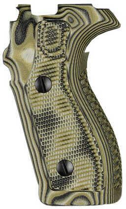 Hogue Sig P227 DA/SA Piranha Grip G10, Mascus Green