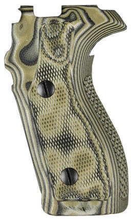 Hogue Sig P227 DA/SA Grip Checkered G10 G-Mascus Green Md: 47178
