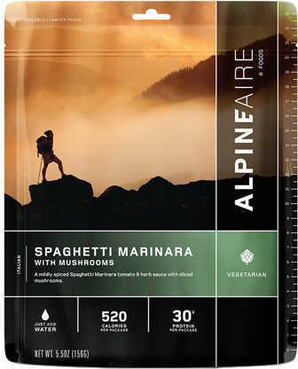 Alpine Aire Foods Spaghetti Marinara w/Mushrooms Serves 2 Md: 60104