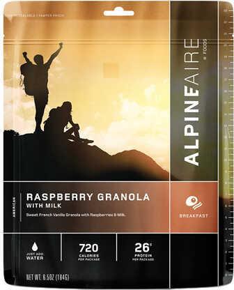 Alpine Aire Foods Raspberry Granola w/Milk Serves 2 Md: 60119