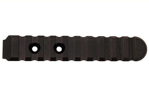 Ergo KeyMod Aluminum UMP Picatinny Rail, 2 Mount Holes Black 10 Slot Md: 4765-BK