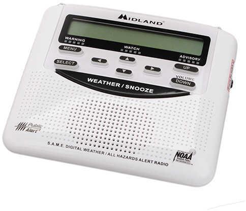 Midland Radios W/X Civil Tri-Lingual Monitor w/Same Clam Md: WR-120C