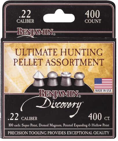 Benjamin Sheridan Ultimate Hunting Pellet Assortment Pack .22, 14.3 Grain Hollow, Super, & Expanding Point, 100 Each
