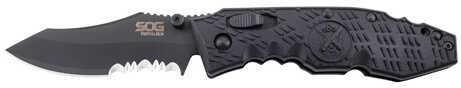 SOG Knives Toothlock -Partially Serrated, Black TiNi Md: TK-04