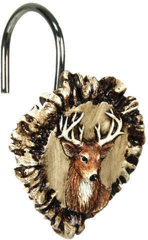 Rivers Edge Products Antler & Deer Shower Curtain Hook Set Md: 647