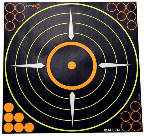 "Allen Cases Allen EZ SEE Adhesive Bullseye Target 17""x17"" Paper 5 Pack Md: 15225"