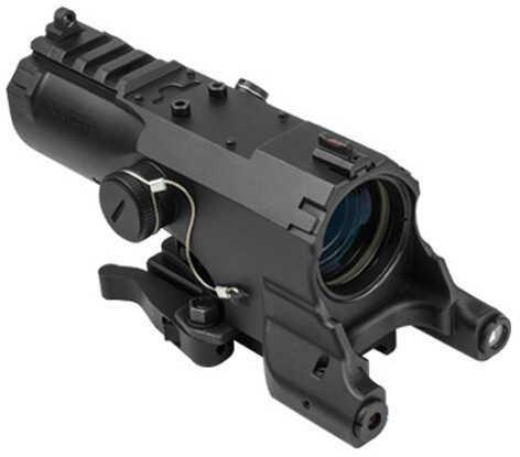 NcStar Eco Prismatic 4x34 Scope/UTR/Blue Illumination/Green Laser Black Md: VEco434QRB