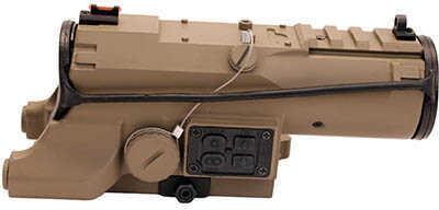 NcStar Eco Prismatic 4x34 Scope/UTR/Blue Illumination/Green Laser Tan Md: VEco434QRT