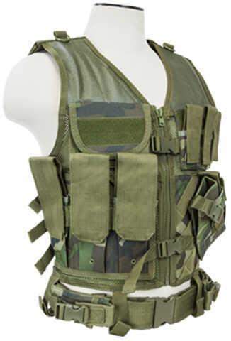 NcStar Tactical Vest Woodland Camo, Xl-Xxl Md: CTVL2916Wc