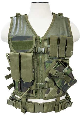 NcStar Tactical Vest Woodland Camo, M-Xl Md: CTV2916Wc