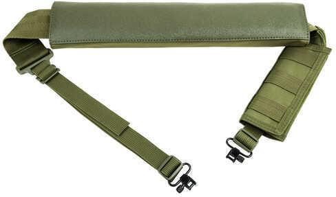 NcStar Shotgun Bandolier/Sling w/Swivels Green Md: AASHG
