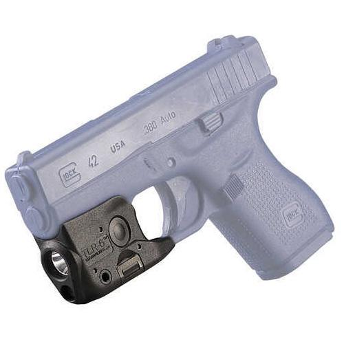 Streamlight TLR-6 Tac Light with Laser For Glock 42/43 Black C4 LED 100 Lumens Red Laser 2x CR1/3 N Lithium Batteriesies