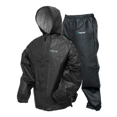 Frogg Toggs Pro-Lite Rain Suit Carbon Black Medium/Large Md: Pl12140-01M/L