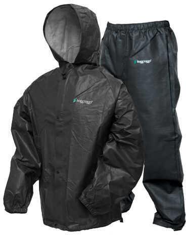 Frogg Toggs Pro-Lite Rain Suit Carbon Black Small/Medium Md: Pl12140-01S/M