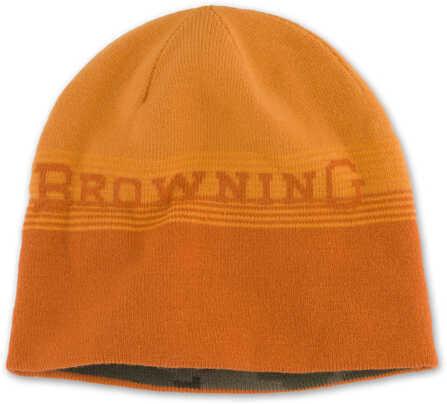 Browning Men's Alpine Reversible Beanie, Orange