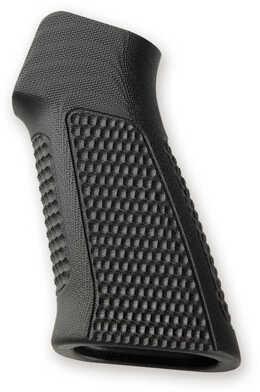Hogue AR-15 No Finger Grooves, Grip Pirahna G10 Solid Balck Md: 13139